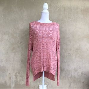 Cozy knit pullover sweater M/L